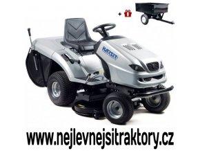 zahradní traktor karsit 20/102h cut stříbrné barvy