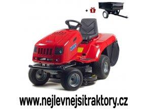 zahradní traktor karsit 22/102hx turbo jeep červené barvy
