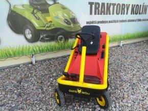 zahradní traktor etesia bahia červeno žluté barvy