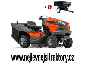 zahradní traktor husqvarna tc 139t oranžovo-černé barvy