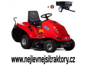 zahradní traktor karsit 13/92h maxi cut červené barvy