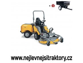 zahradní traktor stiga titan 540 d žluté barvy s předním sečením