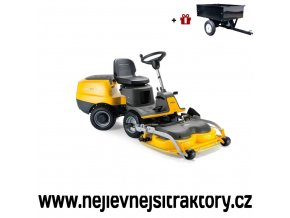 zahradní traktor stiga park pro 340 ix žluté barvy s předním sečením