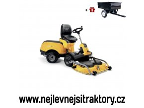 zahradní traktor, rider stiga park 720 power žluté barvy s předním sečením