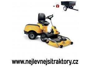 zahradní traktor stiga rider park 740 power žluté barvy s předním sečením