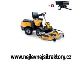 zahradní traktor, rider stiga park pro 540 ix žluté barvy s předním sečením