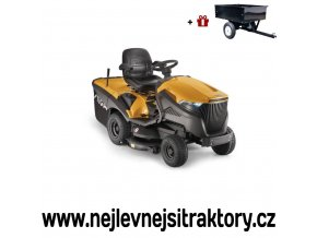 zahradní traktor stiga estate 7102 hws žluté barvy s velkými koly
