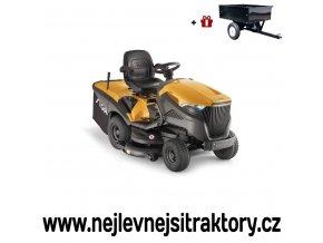 zahradní traktor stiga estate 7122 hws žluté barvy s velkými koly