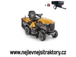 zahradní traktor stiga estate pro 9122 xws žluté barvy s velkými koly