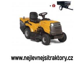 zahradní traktor stiga estate 3098 h žluté barvy s velkými koly