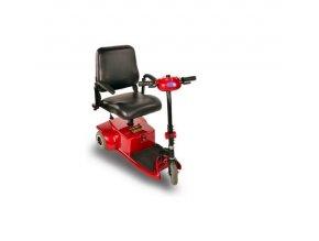 tříkolový invalidní vozík selvo 3200 červené barvy