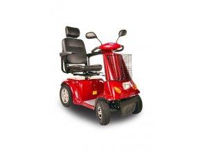 čtyřkolový invalidní vozík selvo 4800 červené barvy