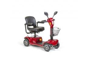 čtyřkolový invalidní vozík selvo 4250 červené barvy