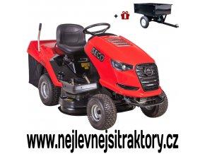 zahradní traktor seco challenge aj 92-20 červené barvy a velkými koly