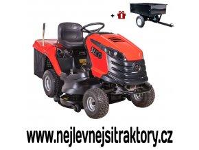 zahradní traktor seco challenge mj červené barvy s velkými koly