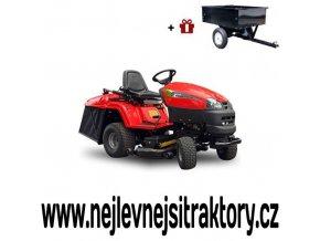 zahradní traktor wisconsin ocelot červené barvy