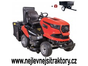 zahradní traktor seco starjet exclusive uj 102-24 4x4 pro červené barvy, černou žebrovanou maskou a velkými koly