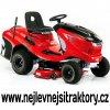 zahradní traktor al-ko t 13-93,7 hd červené barvy s černou kapotou