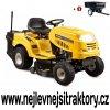 zahradní traktor riwall pro rlt 92 h žluté barvy s velkými koly