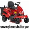 zahradní traktor al ko r 7 65.8 hd červené barvy