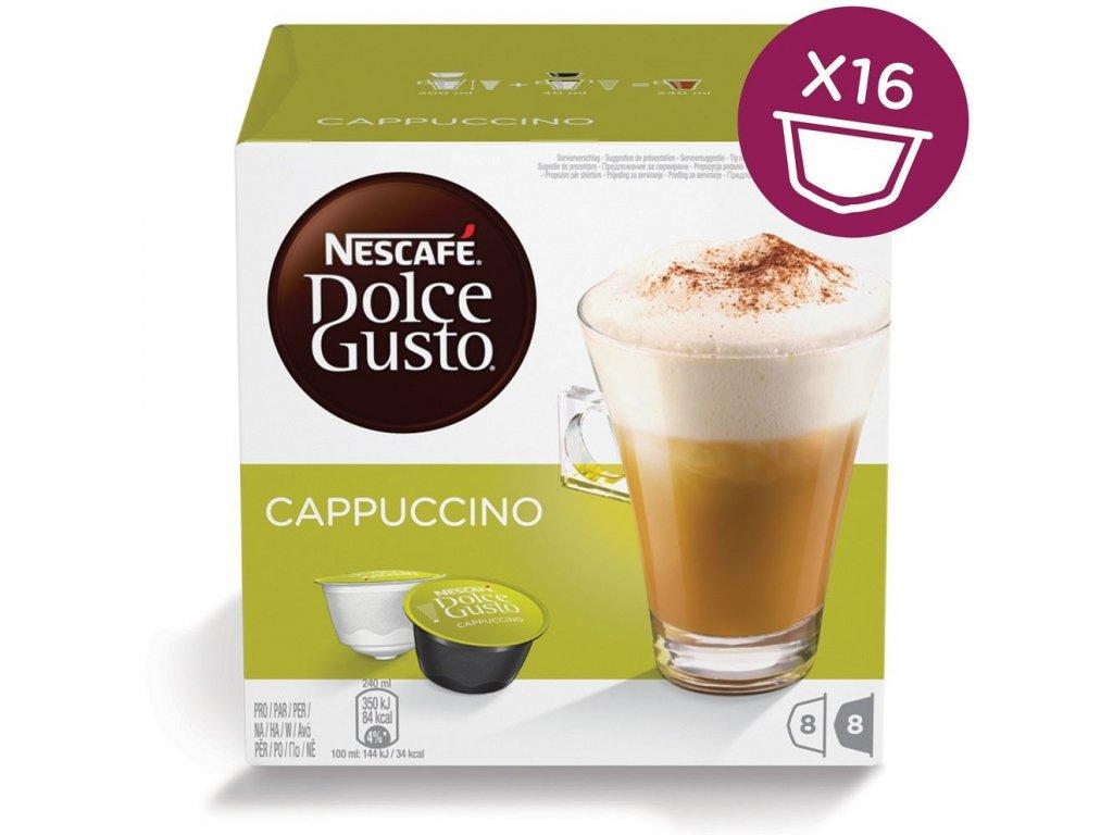 Nescafé Dolce Gusto kávové kapsle Cappuccino 16 ks