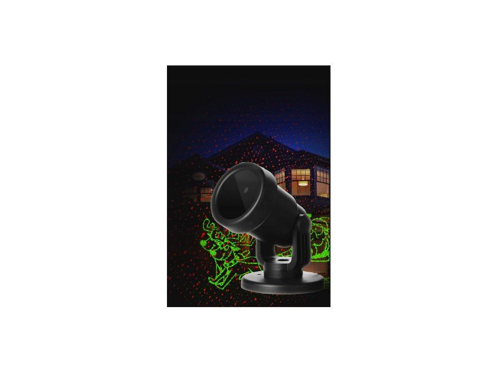 EuroHit Vánoční laserový projektor tématické obrázky 20 x 20 m s časovačem PZP 88574