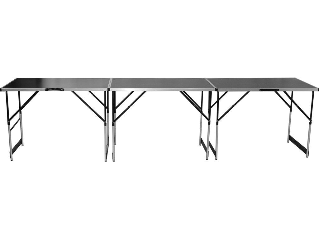 3x hliníkový skládací prodejní pult stůl stolek