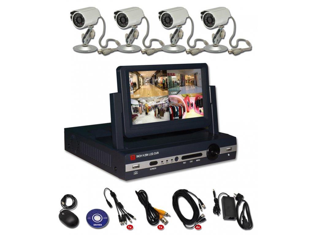 Crown Zabezpěčovací kamerový systém DVR 6304S f