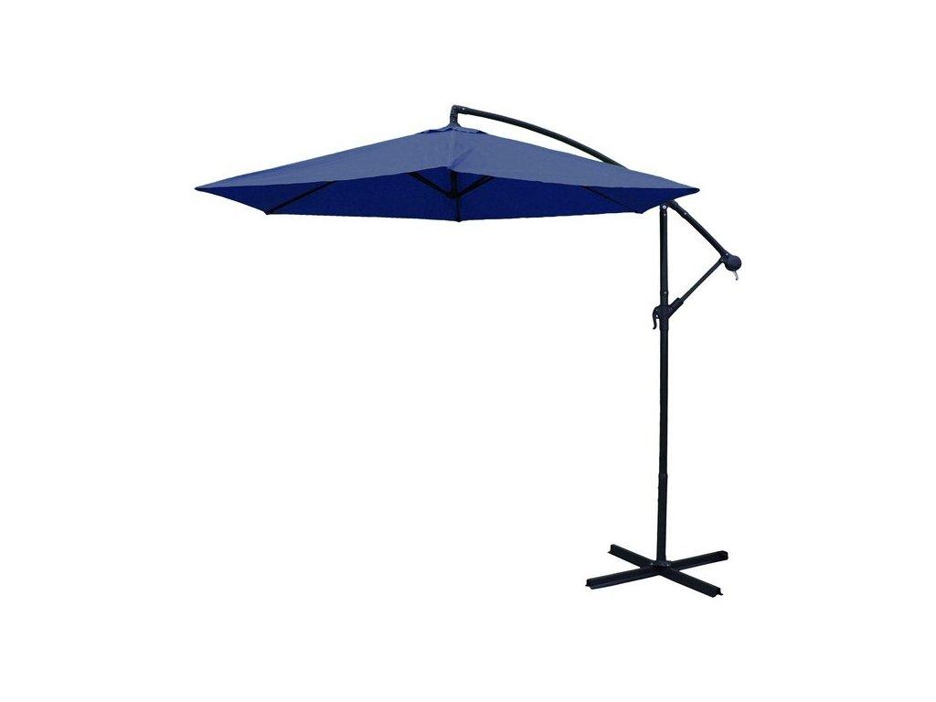 Slunečník Exclusive boční průměr 300 cm modrý