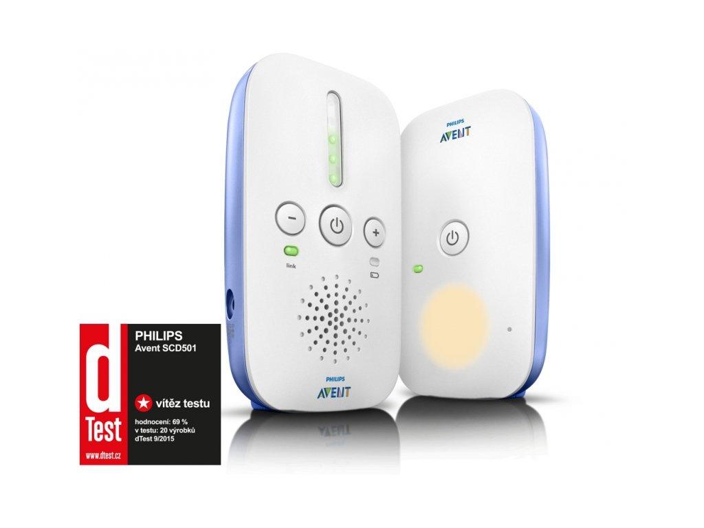 Dětská chůvička Philips Avent SCD501/00 bílá/modrá