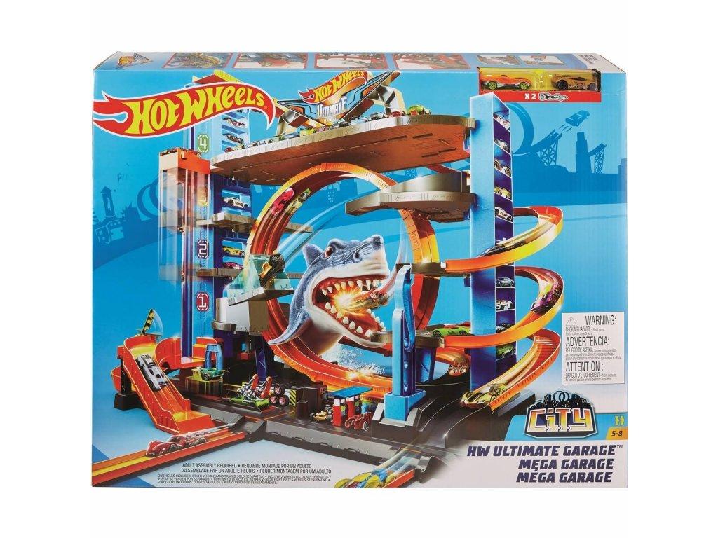 Hot Wheels city garáž se smyčkou