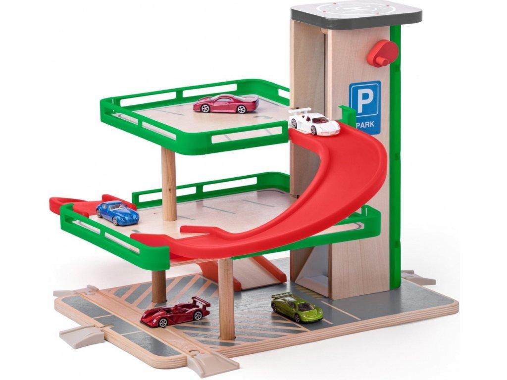 SIKU Woody Garáž s výtahem a autíčky