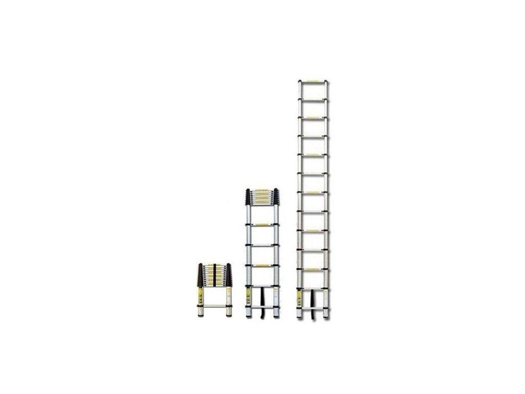 Teleskopický výsuvný žebřík G21 GA TZ9 2,6M hliníkový