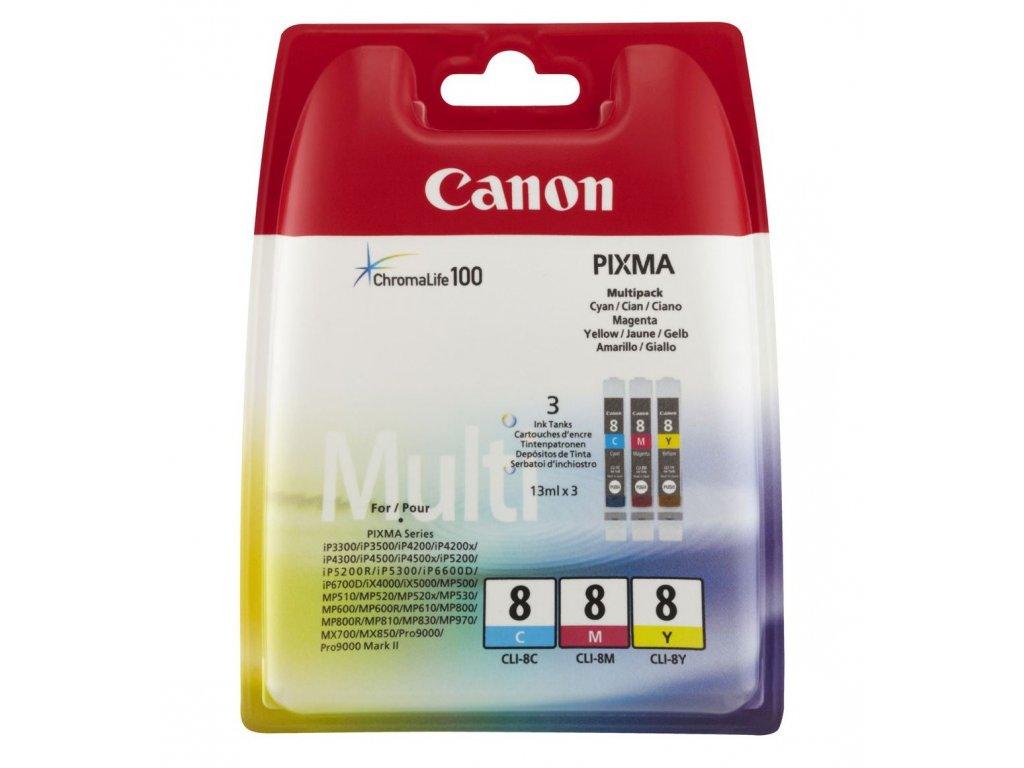 Canon CLI 8CMY 0621B029 originální náplně