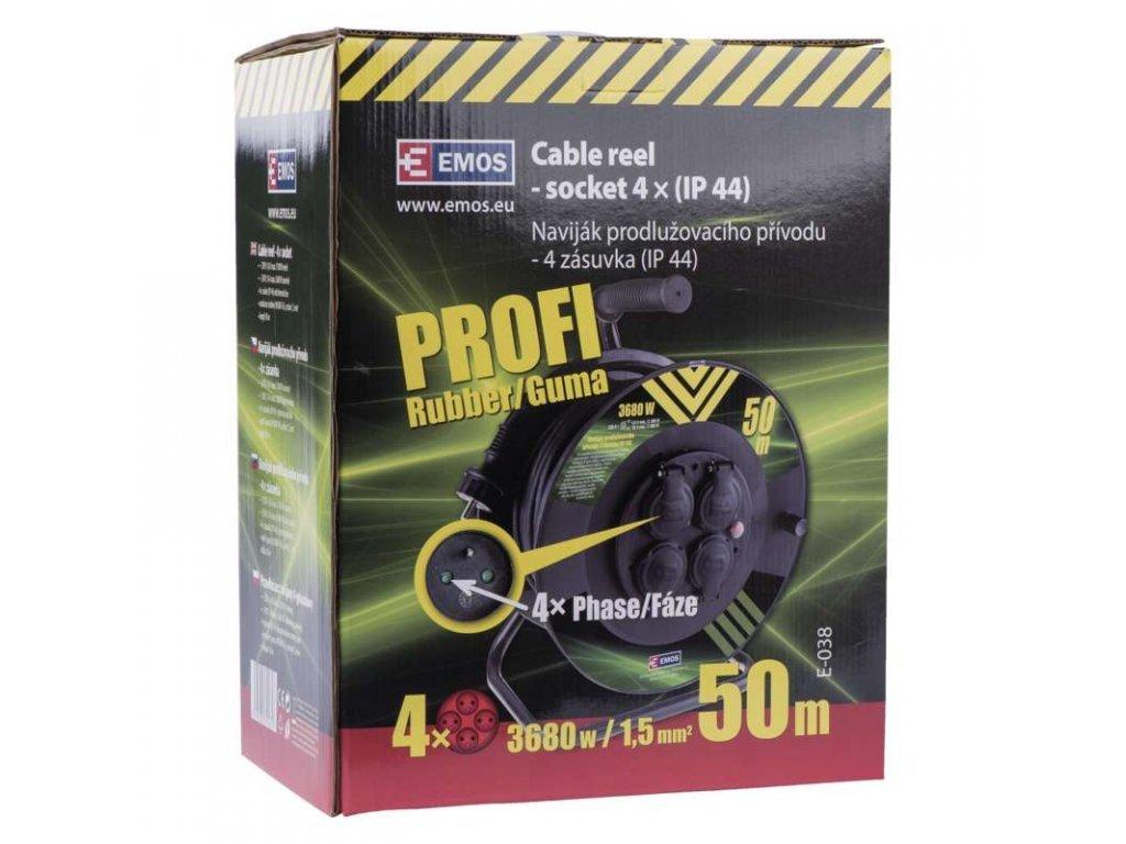 Emos Prodlužovací kabel na bubnu P084501 50m 4 zásuvky 1