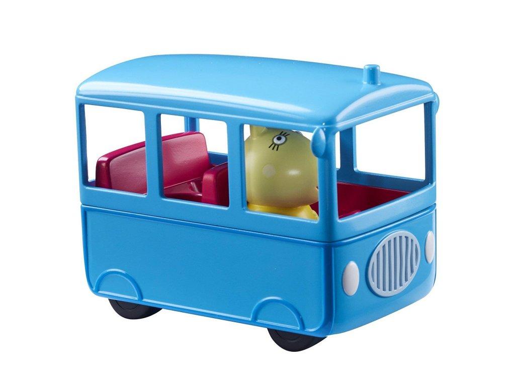 TM Toys Peppa Pig školní autobus s figurkou 1
