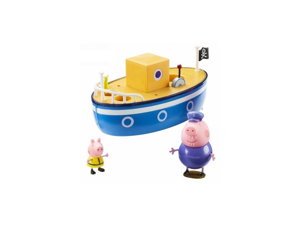 PEPPA PIG Loď + 2 figurky Wiky Prasátko Pepa loďka s figurkou 1