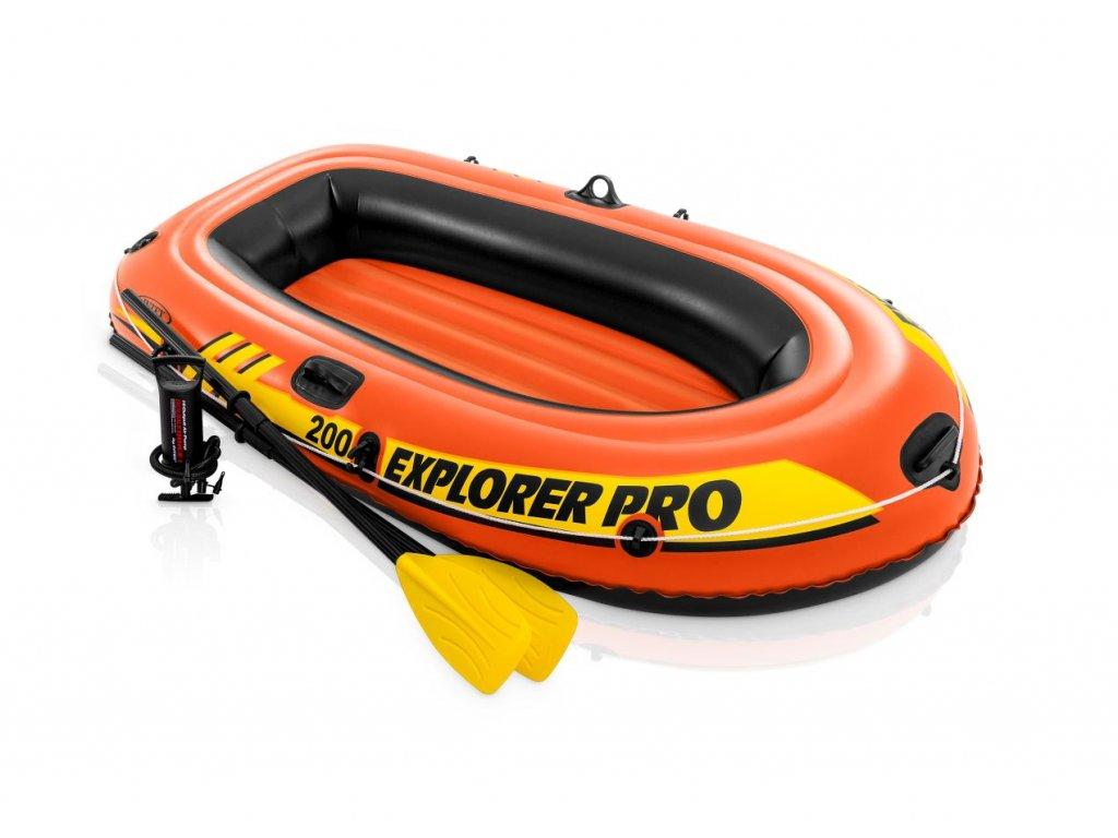 Intex 58357 Nafukovací člun Explorer Pro 200 Set 196 x 102 x 33 cm