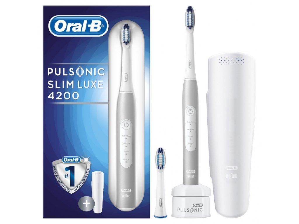 Oral B Pulsonic Slim Luxe 4200 Platinum sonický zubní kartáček S411.523.3X