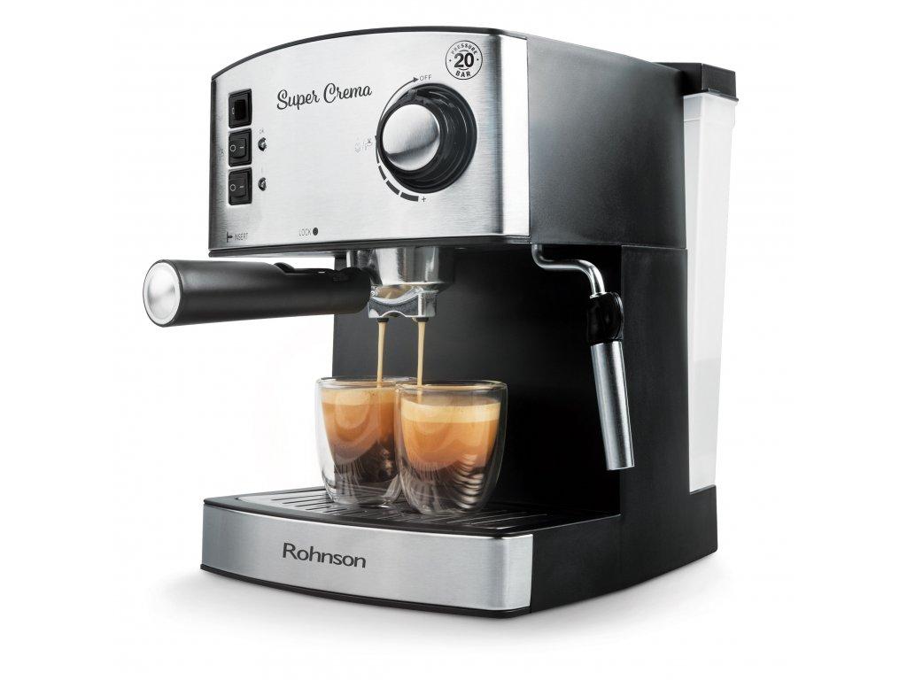 Espresso Rohnson R 980 stříbrné