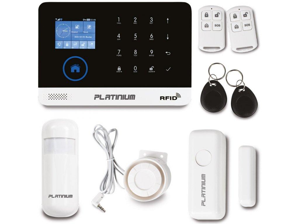 Platinium Bezdrátový domovní GSM alarm s Wi Fi PG 103