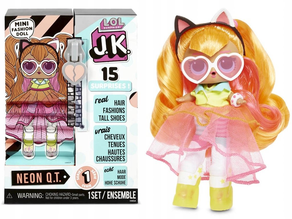 L.O.L. Surprise! JK Neon QT Fashion Doll s botami 4