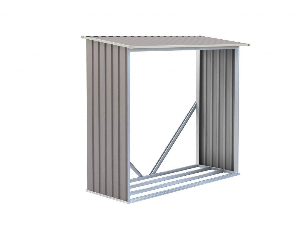 G21 Přístřešek na dřevo WOH 136 182 x 75 cm šedý