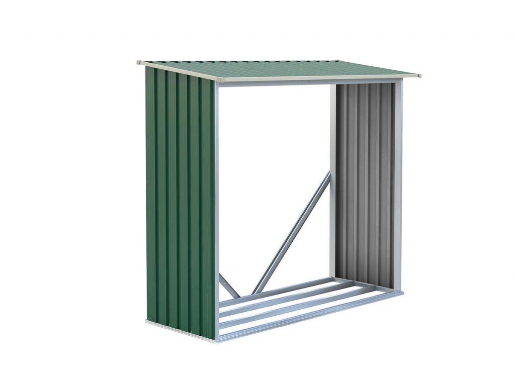 G21 Přístřešek na dřevo WOH 136 182 x 75 cm zelený