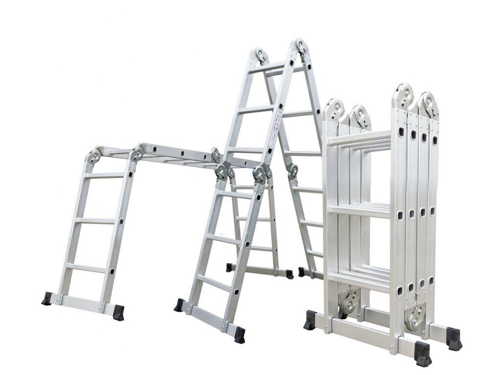 G21 Hliníkové štafle GA SZ 4x3 3,7M multifunkční 6390464