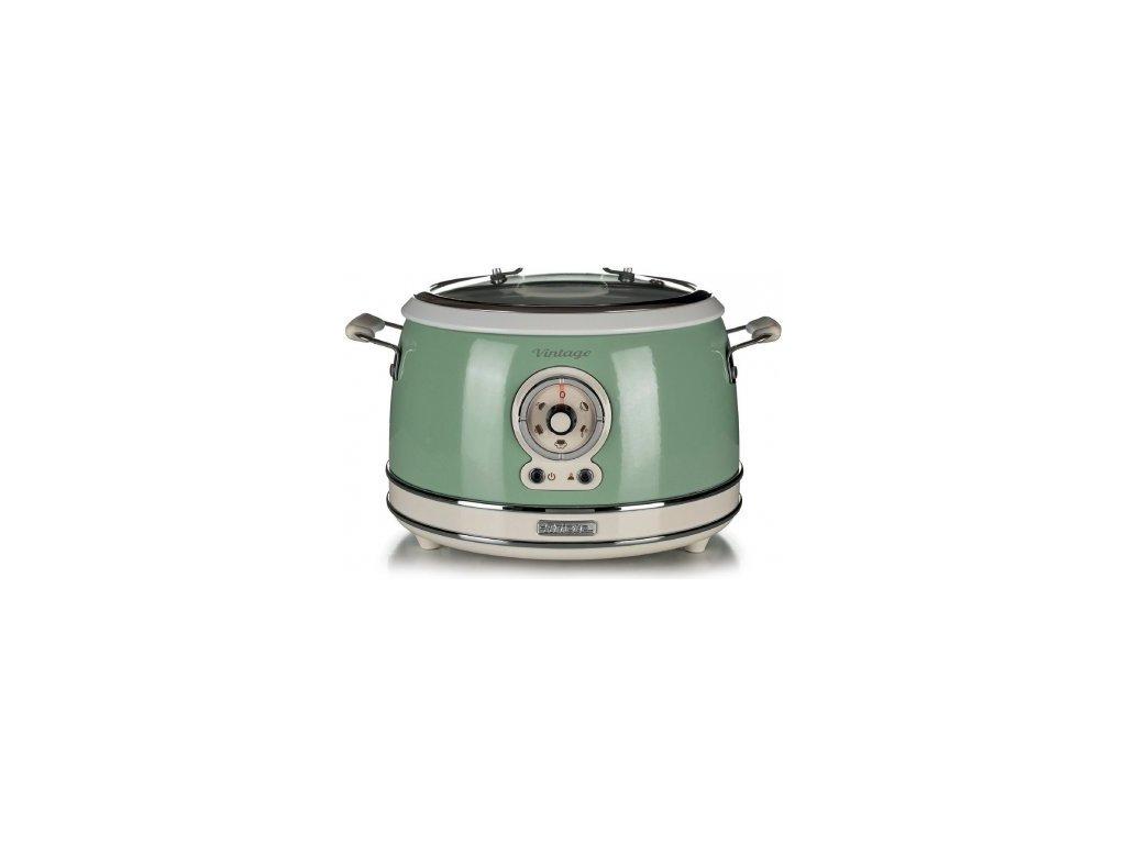 zelený Retro multifunkční hrnec a rýžovar Ariete Vintage 290404