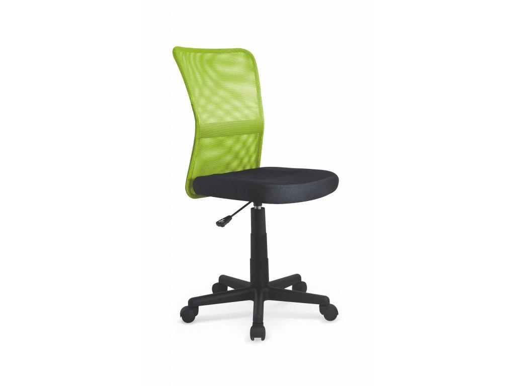 Dětská otočná židle Halmar DINGO zelená černá
