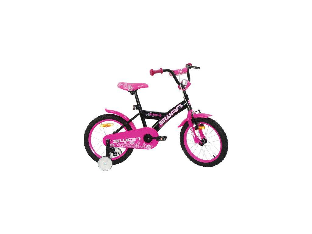 Dětské jízdní kolo Actim Diana 16 palců fialovo bílé 2021 dívčí