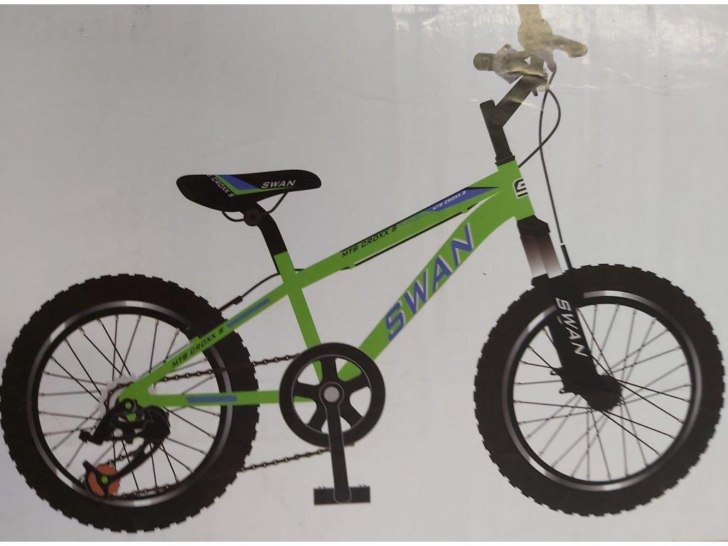 Dětské jízdní kolo Actim MTB Croxx S 20 palců zelené 2021 chlapecké