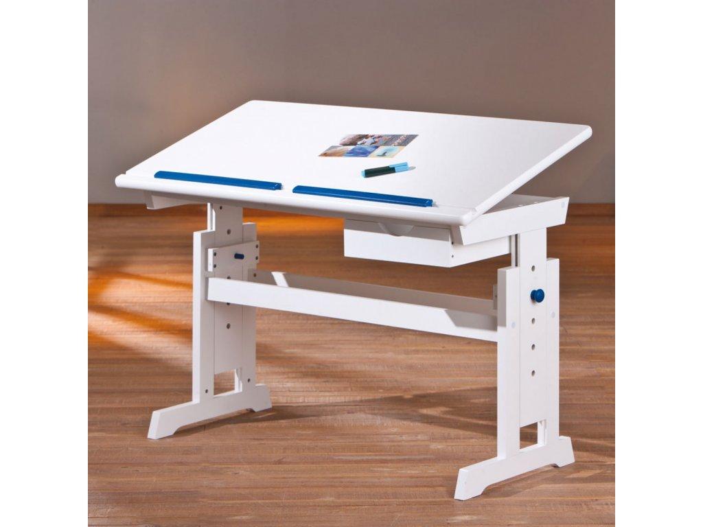 Rostoucí psací stůl Baru modrý